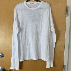 Standard James Perse White Long Sleeve Shirt
